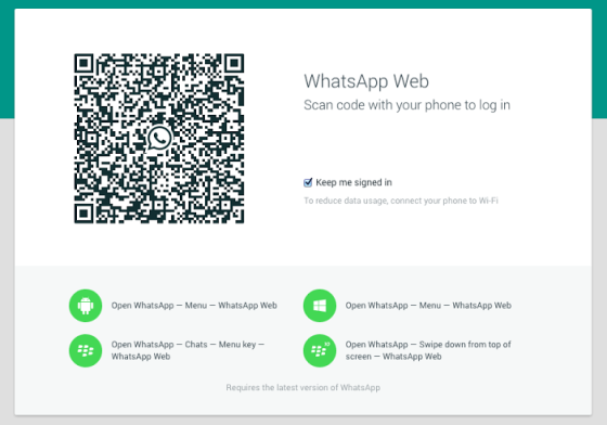 WhatsApp Web released for Windows 8.1 and Android, not available on iOS